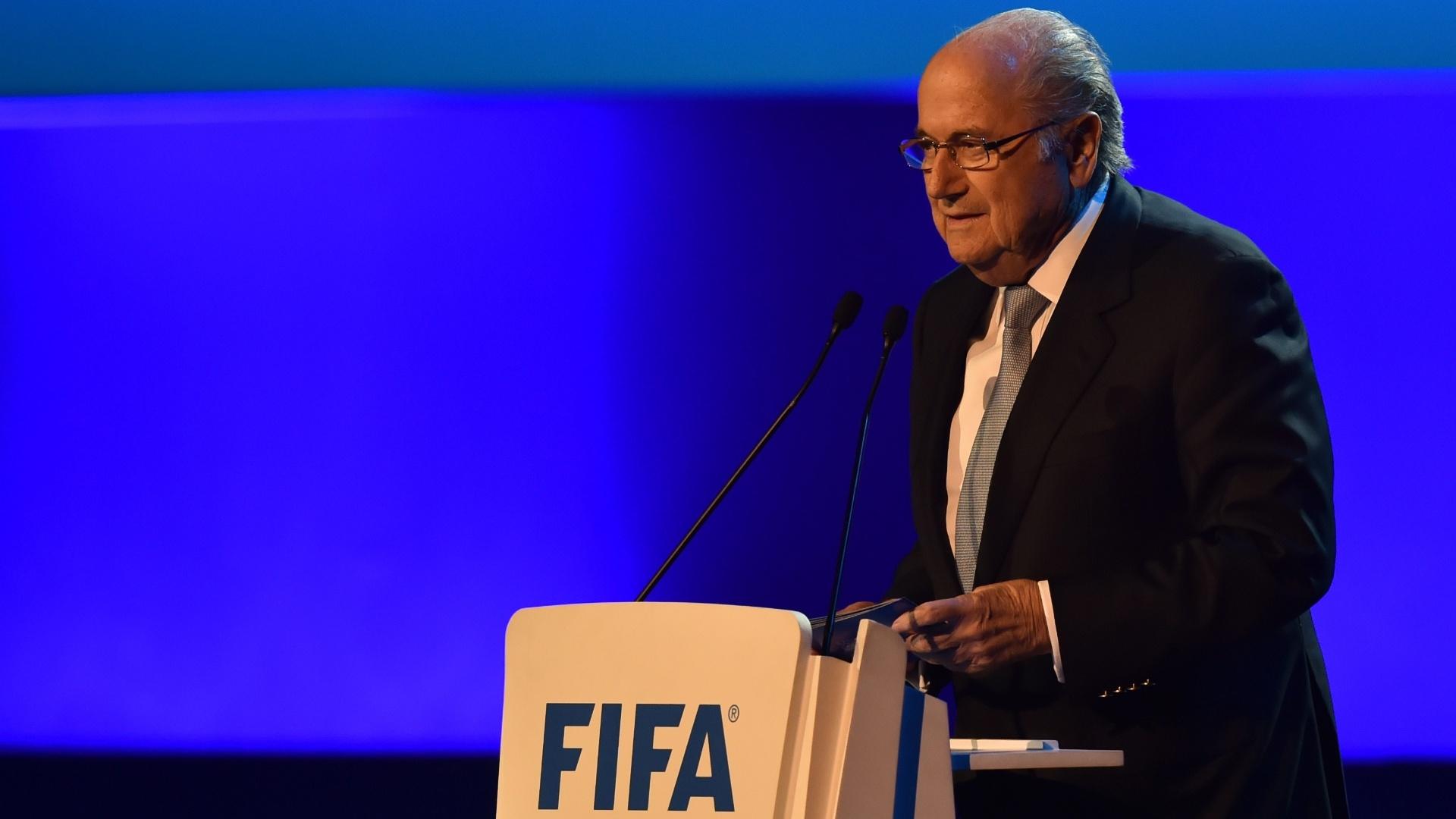 Joseph Blatter discursa no Congresso da Fifa