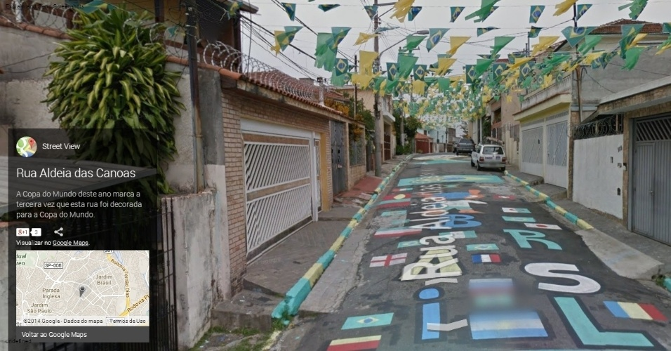 Rua Aldeia das Canoas, em São Paulo