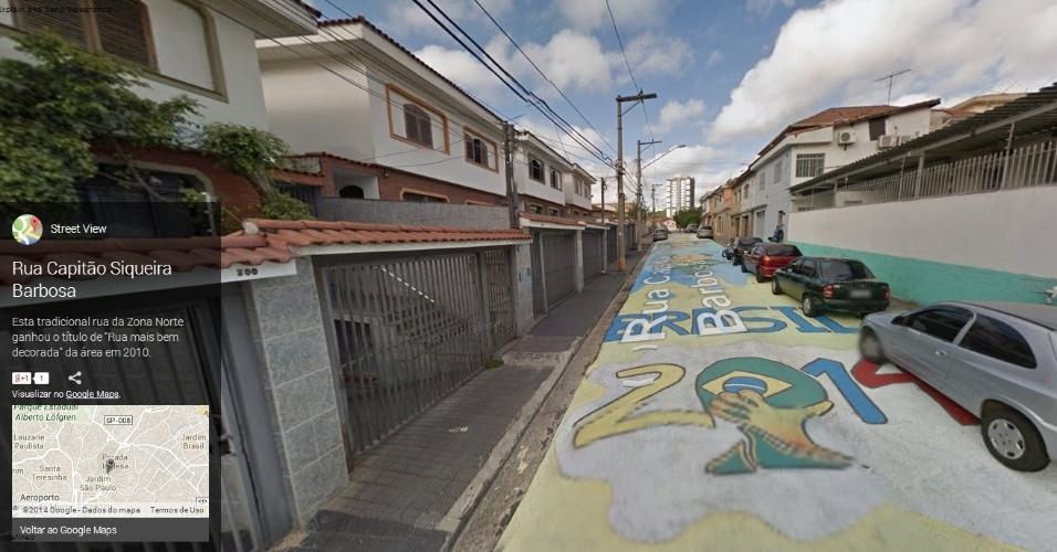 Rua Capitão Siqueira Barbosa, na zona norte de São Paulo