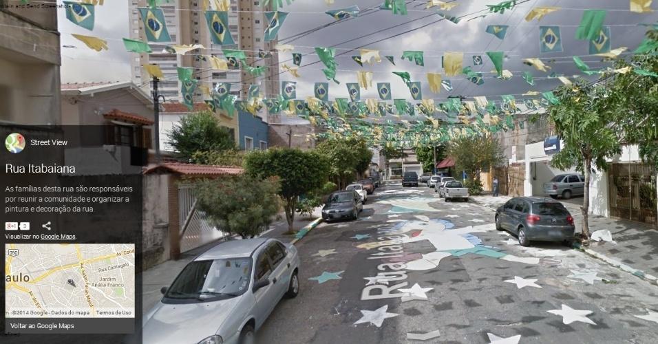 Rua Itabaiana, na zona leste de São Paulo