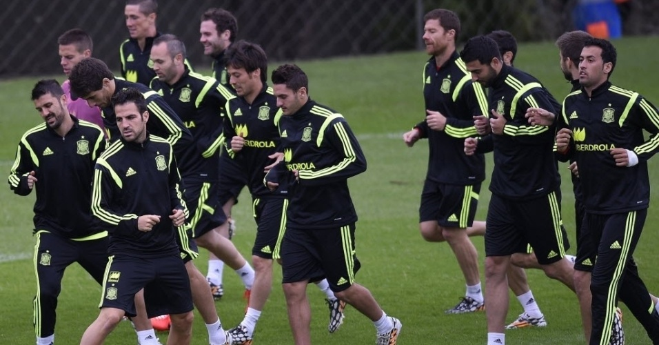 Seleção espanhola treina no CT do Caju, em Curitiba