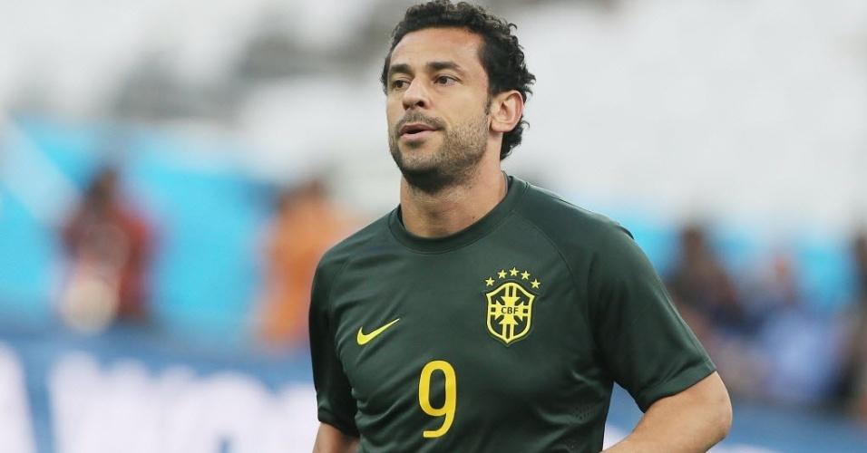 11. jun. 2014 - Fred participa de treino da seleção brasileira no Itaquerão
