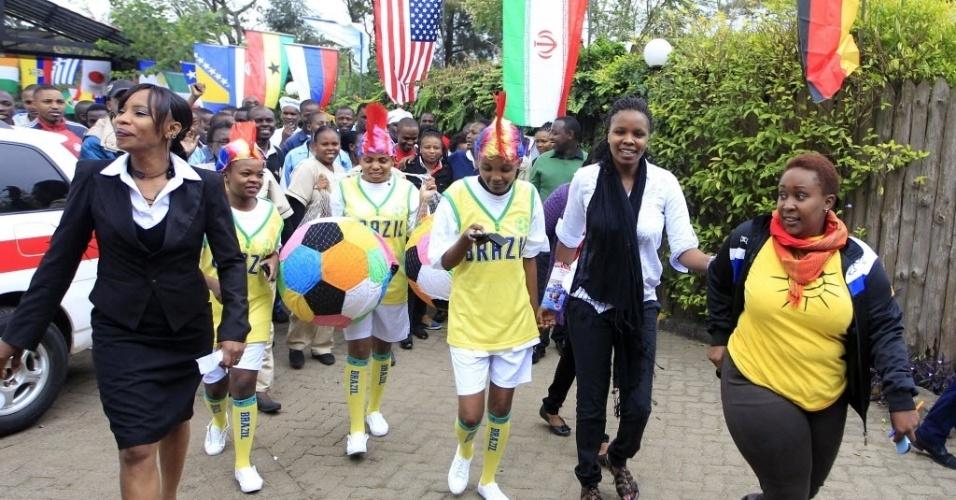 Festa no Quênia já começa a ser ensaiada para a abertura da Copa do Mundo