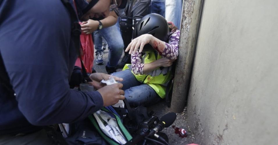 Jornalista da CNN se feriu em durante protesto em São Paulo que terminou em confronto entre polícia e manifestantes