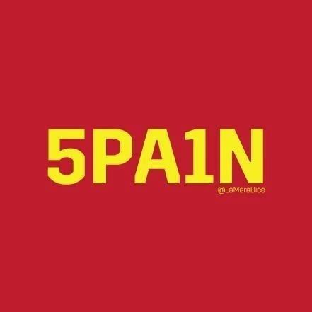 Internautas trocam o S por 5 e o i por 1 para escrever o nome da seleção espanhola.