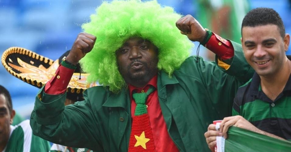Camaroneses fazem a festa antes da estreia da seleção na Copa do Mundo contra o México
