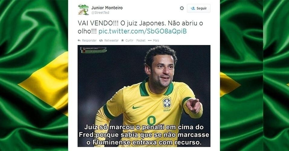 Os internautas não esqueceram o julgamento do STJD que salvou o Fluminense do rebaixamento em 2013.