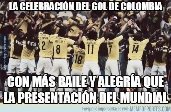 """""""A comemoração do gol da Colômbia com mais festa e alegria que a abertura da Copa"""""""