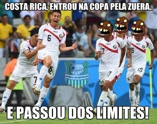 """Com a vitória sobre o Uruguai, a Costa Rica é a nova """"zueira"""" da Copa"""