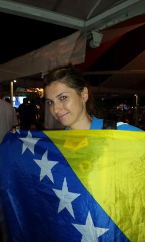 Dzana Bazdarevic, de 25 anos, vive em Sarajevo e veio para o Rio acompanhar a Bósnia