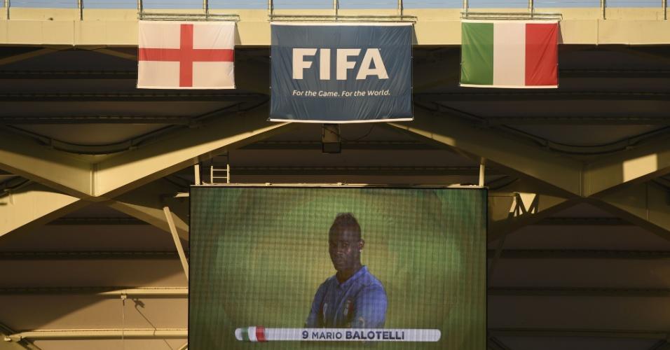 Escalação de Balotelli na Itália é confirmada na Arena Amazônia