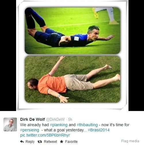 Gol de Van Persie de peixinho vira mania entre fãs da Holanda