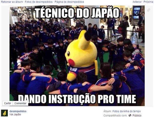 Imagem exclusiva da preleção do Japão antes do jogo contra a Costa do Marfim
