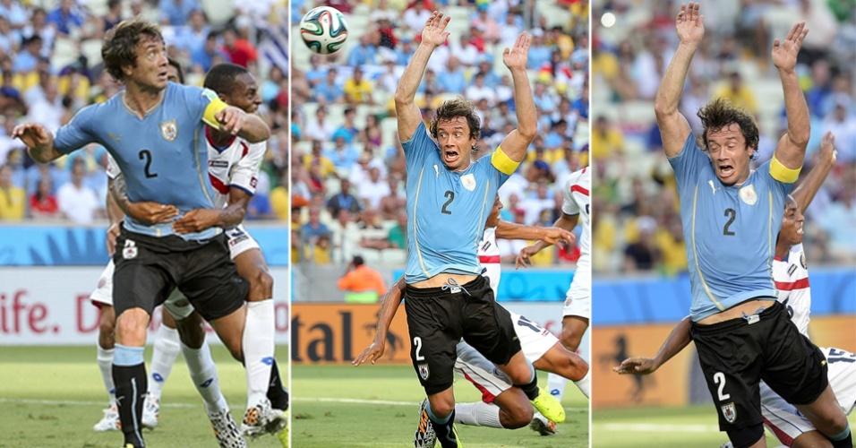 Imagens mostram pênalti sofrido por Lugano contra a Costa Rica