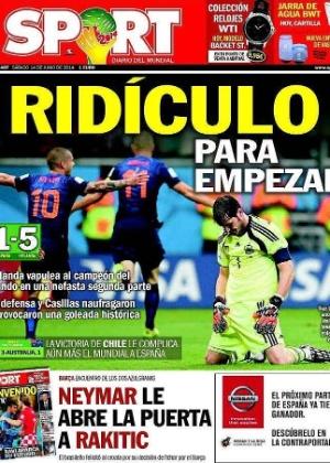 """O catalão Sport foi mais direto: """"Ridículo para começar"""""""