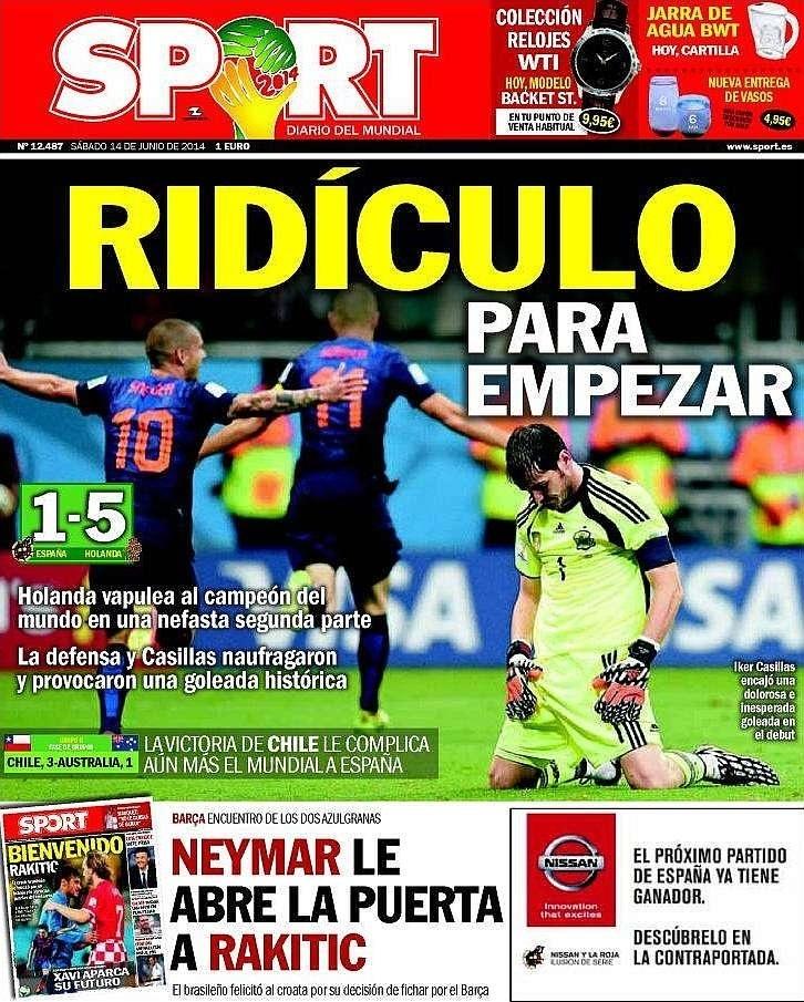 O catalão Sport foi mais direto: