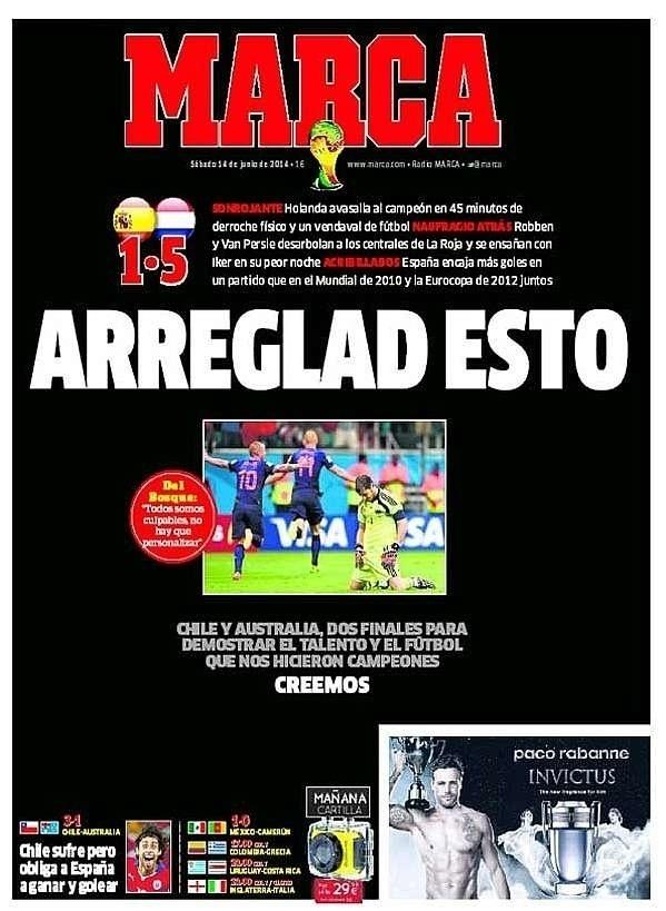 O jornal Marca pediu para que a seleção espanhol