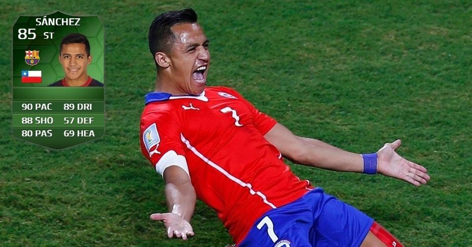 Sanchez: atacante do Barcelona foi o melhor do Chile na vitória sobre a Austrália e acabou valorizado no mundo virtual
