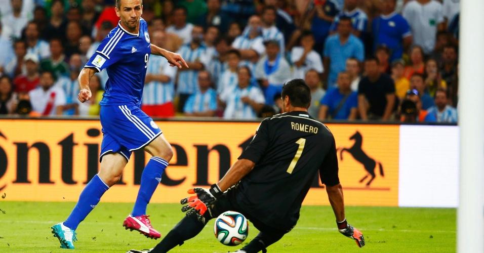 Bósnia não supera a Argentina, mas consegue marcar seu primeiro gol na história das Copas do Mundo com Ibisevic