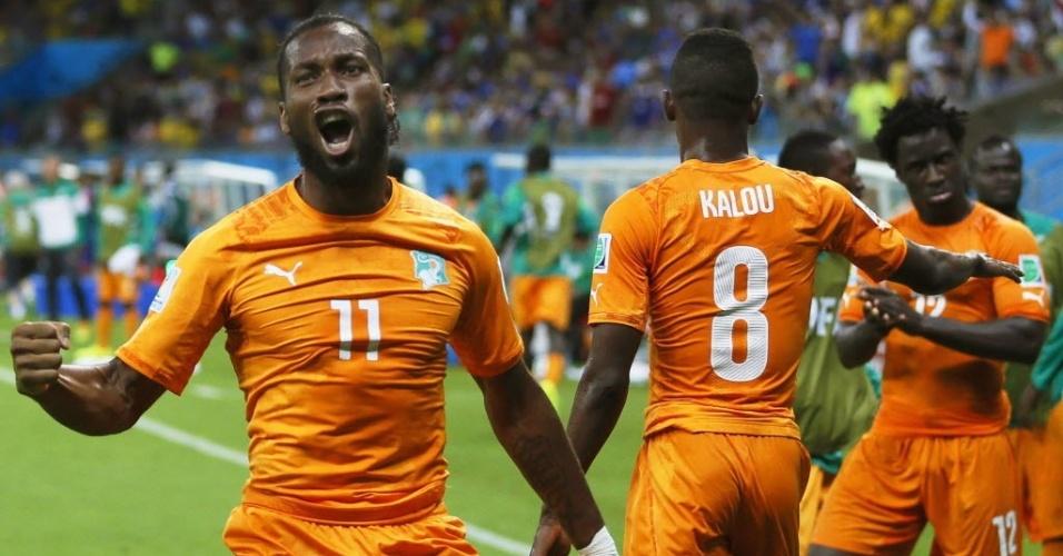 Drogba saiu do banco de reservas e mudou o jogo no duelo entre Costa do Marfim e Japão