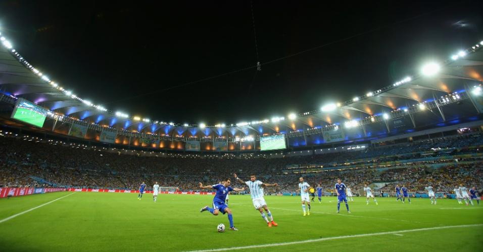 Estádio do Maracanã recebe a última partida deste domingo, a estreia da Argentina de Messi contra a Bósnia-Herzegovina
