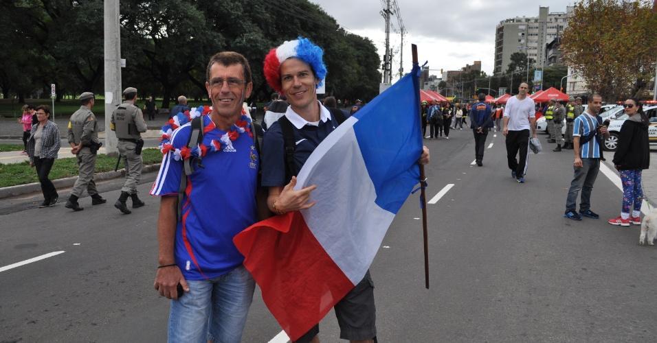 Franceses parecem estar confiantes com a estreia da equipe na Copa do Mundo