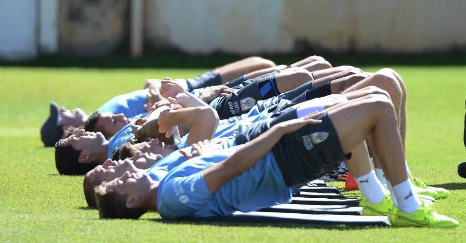 Jogadores do Uruguai fazem treino físico em Belo Horizonte