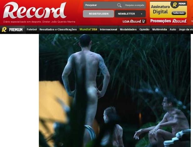 Jornal português flagra jogadores croatas [Dejan Lovren, Luka Modric e Srna] nus em piscina de hotel