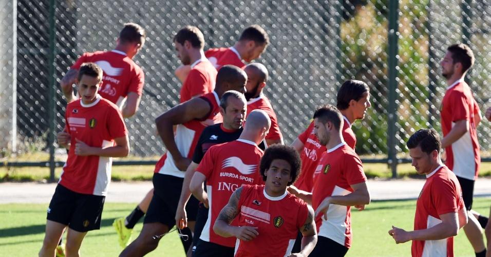 Seleção da Bélgica realiza trabalho físico em treino na cidade de Belo Horizonte