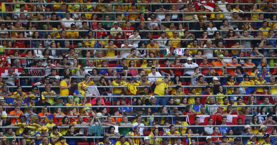 Torcida acompanha Suíça x Equador, em Brasília, pelo Grupo E da Copa do Mundo