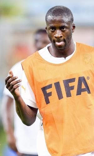 Yaya Toure durante treino da Costa do Marfim na Arena Pernambuco