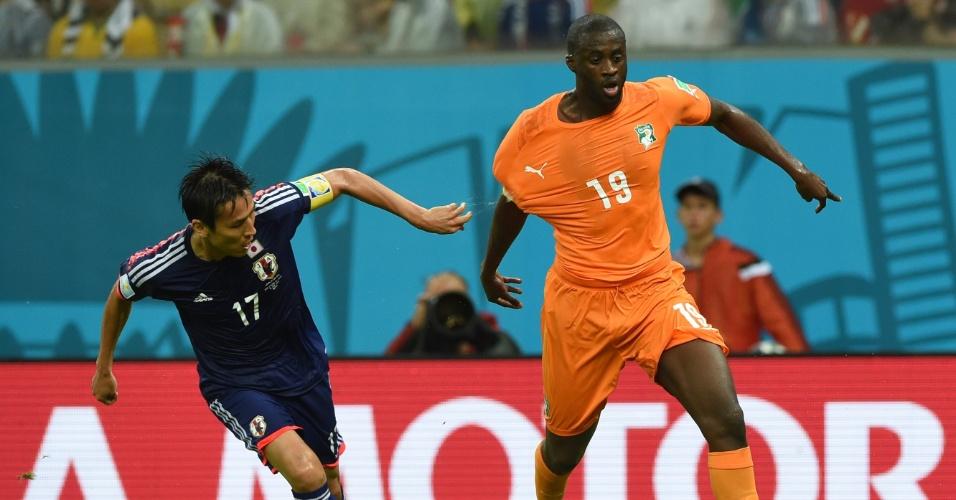 Yaya Toure ganha de japonês na vitória da Costa do Marfim