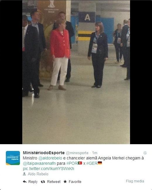 16.06.2014 - Chanceler alemã Angela Merkel chega à Arena Pernambuco para acompanhar seleção de seu país