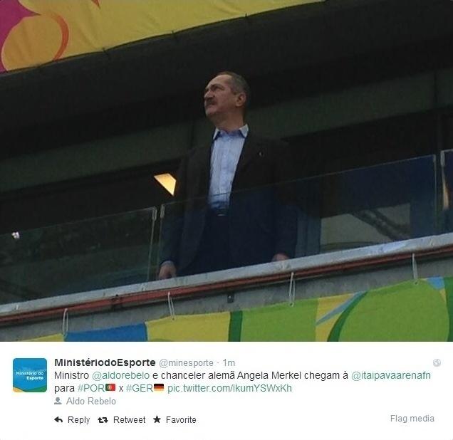 16.06.2014 - Ministro do Esporte, Aldo Rebelo acompanha jogo da Arena Pernambuco