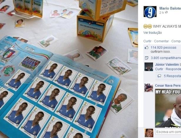 Após vitória sobre a Inglaterra, Balotelli exibiu seu álbum de figurinhas no Facebook