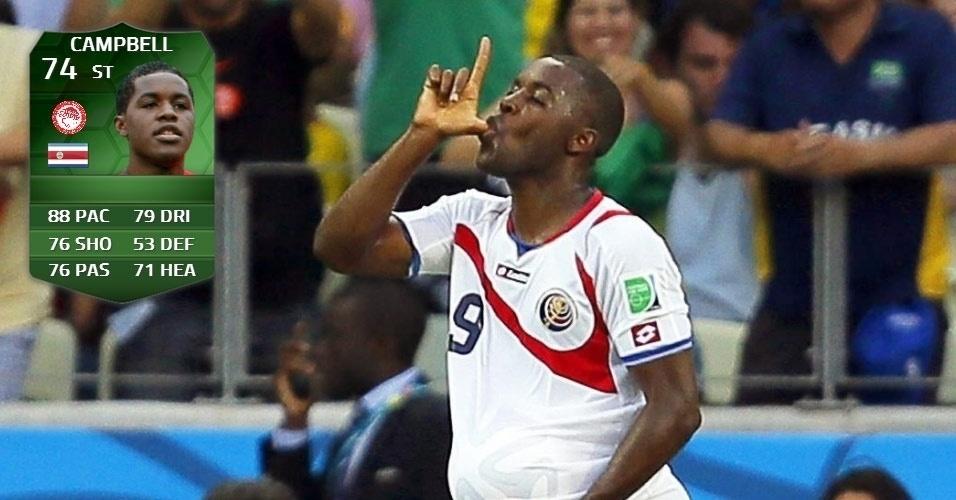 Costa Rica 3 x 1 Uruguai: Campbell (74)