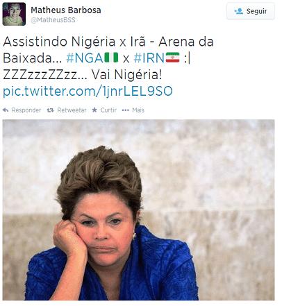 Jogo parece não empolgar nem a presidente Dilma Rousseff