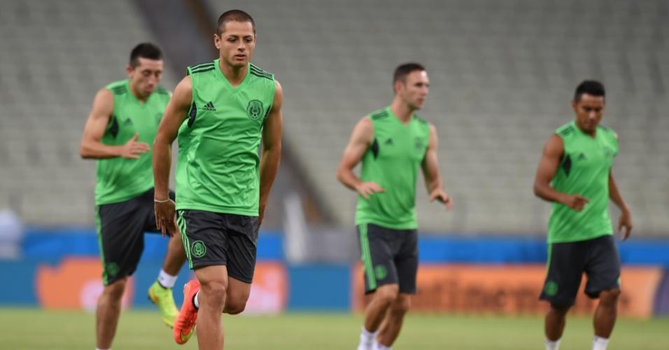 México se prepara a partida contra o Brasil nesta terça-feira, no Castelão