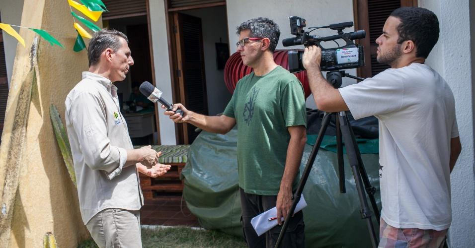 Rodrigo Castro é o líder da Associação Caatinga, organização não-governamental que propôs o tatu-bola como mascote da Copa