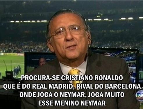 Sempre lembrado pelos elogios para Neymar, Galvão foi alvo de novas montagens