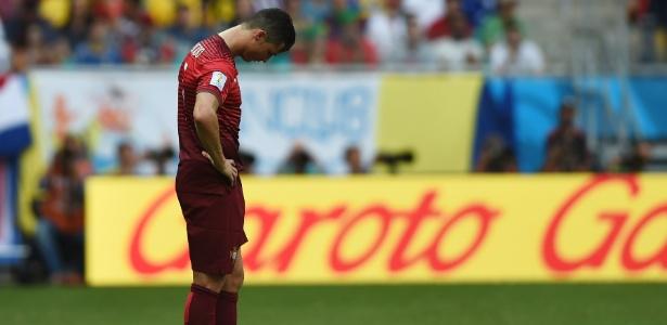 Cristiano Ronaldo abalado após a goleada sofrida pela Alemanha