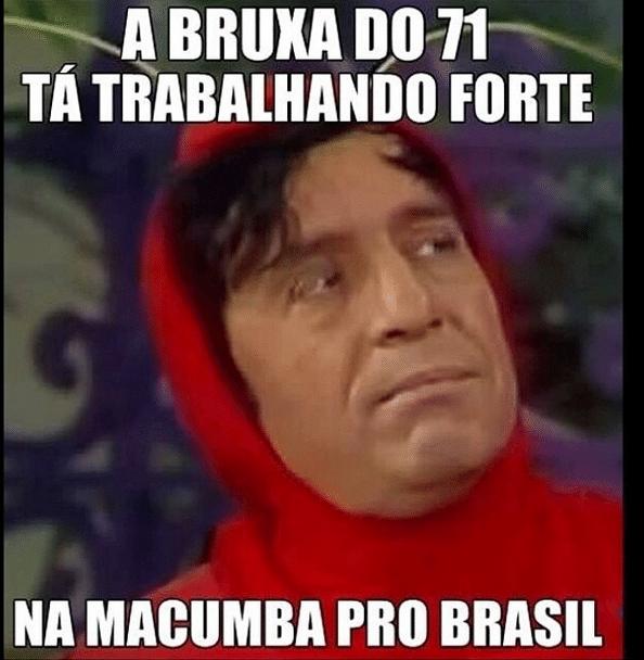 A Bruxa do 71 parece que atrapalhou o Brasil hoje