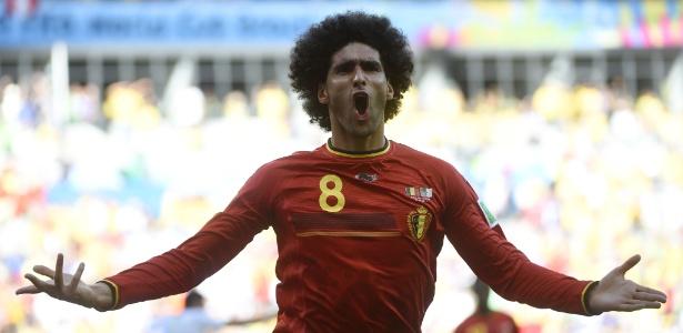 """O meia belga Fellaini, um dos jogadores que fazem parte da chamada """"ótima geração belga"""""""