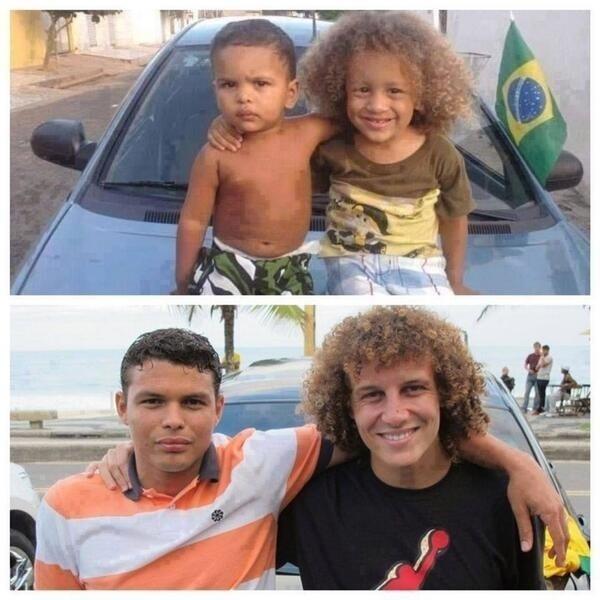 David Luiz e Thiago Silva ganharam sósias nesta Copa