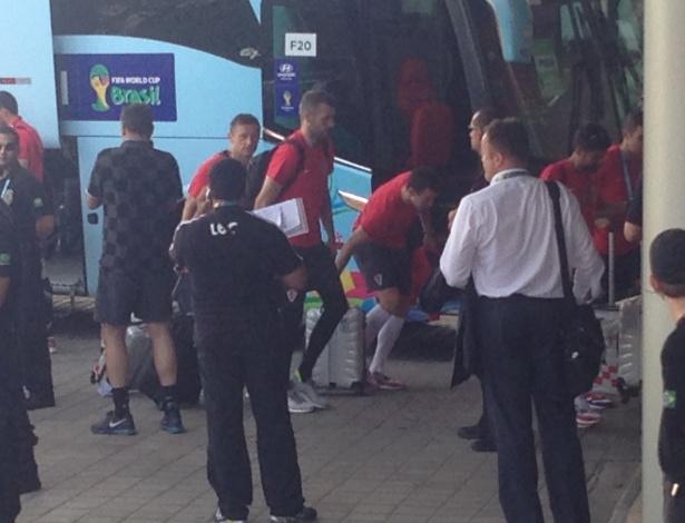 Delegação croata desembarcou em Manaus na tarde desta terça-feira