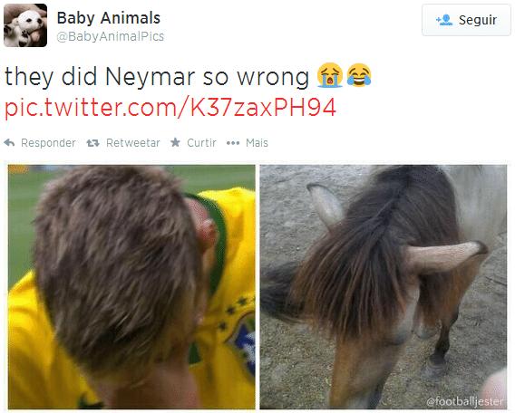 """""""Eles fizeram o cabelo do Neymar tão errado"""". Novo estilo do atacante não foi perdoado na web"""