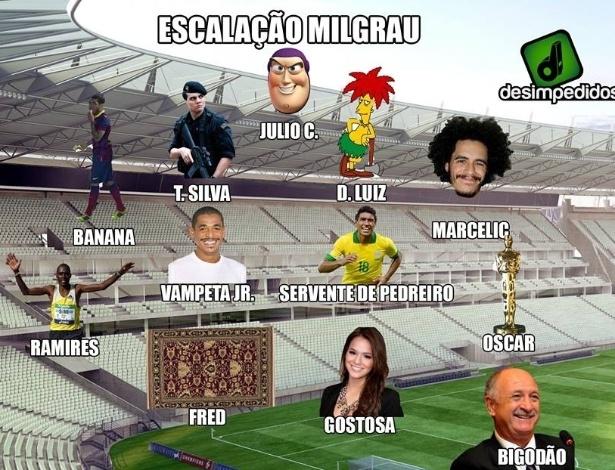 Escalação do Brasil também foi alvo de brincadeiras