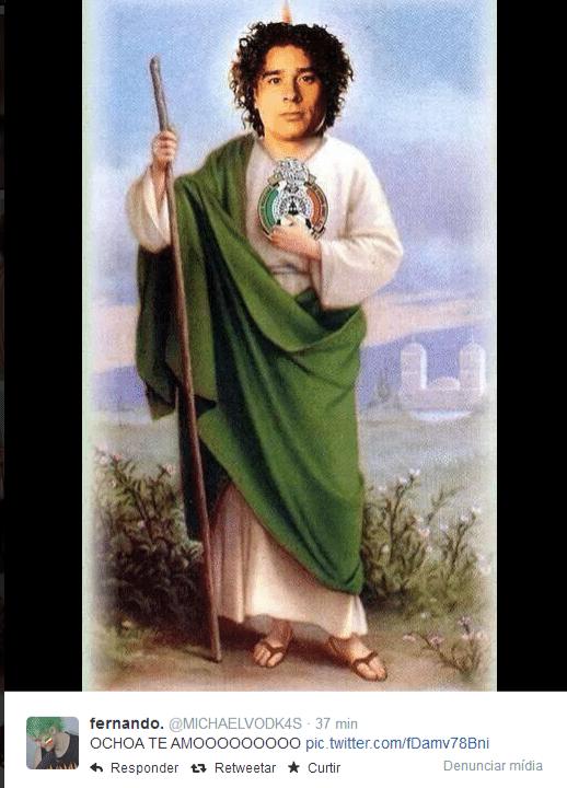 Goleirão virou santo