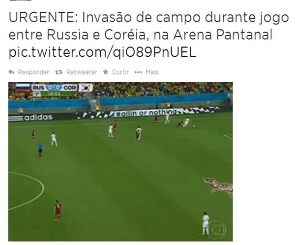 Imagem flagra invasão de campo na Arena Pantanal