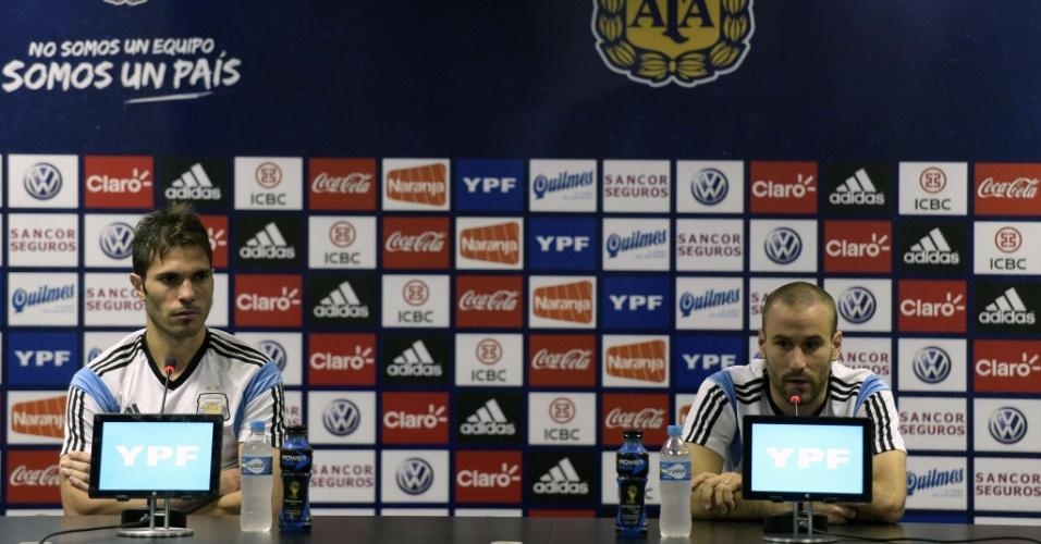 Jose Basanta e Rodrigo Palácio, da Argentina, dão entrevista coletiva nesta terça-feira
